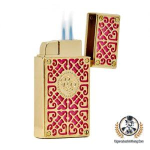 Bật lửa Rocky Patel Burn màu vàng hồng - cigarcubachinhhang.com