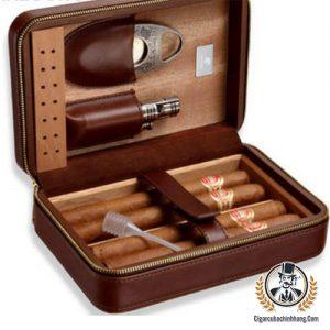 Hộp da Galiner 4 điếu kèm dao và khò có đục - cigarcubachinhhang.com
