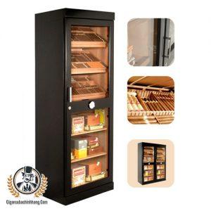 Tủ giữ ẩm bằng điện Adorini Roma màu đen - cigarcubachinhhang.com