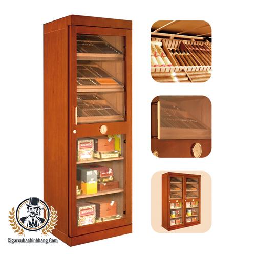 Tủ giữ ẩm bằng điện Adorini Roma màu nâu - cigarcubachinhhang.com