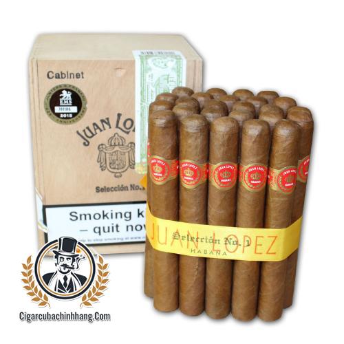 Xì gà Juan Lopez Seleccion No. 1 - Hộp 25 điếu - cigarcubachinhhang.com